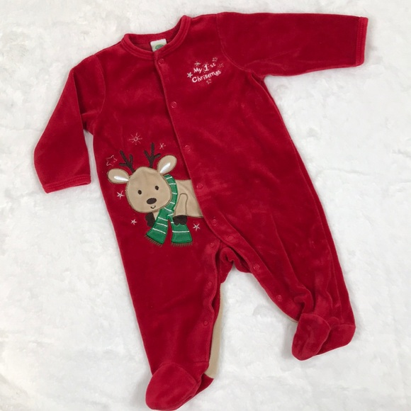 Other - 1st Christmas Footed PJs, 3 Months